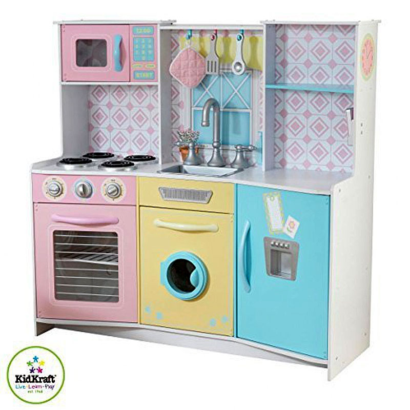 Kidkraft Wooden Play Kitchen wooden kids kitchen, top 10 wooden kitchens for kids ebay, $ 32