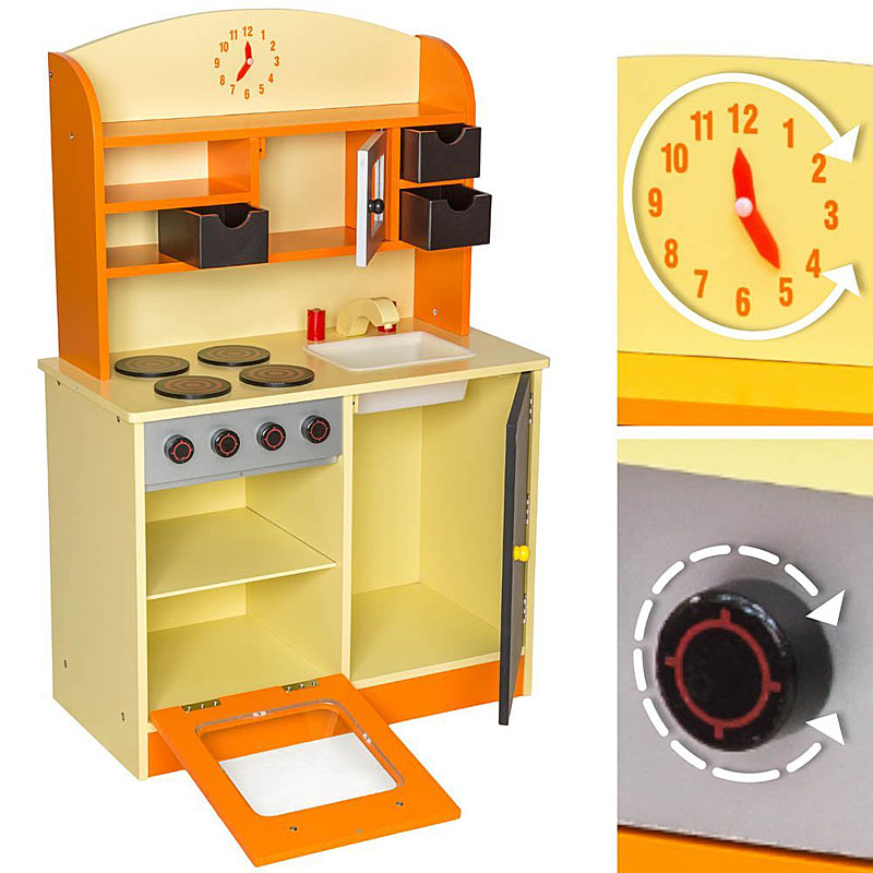 TecTake Wooden childrens play kitchen cooking toys review