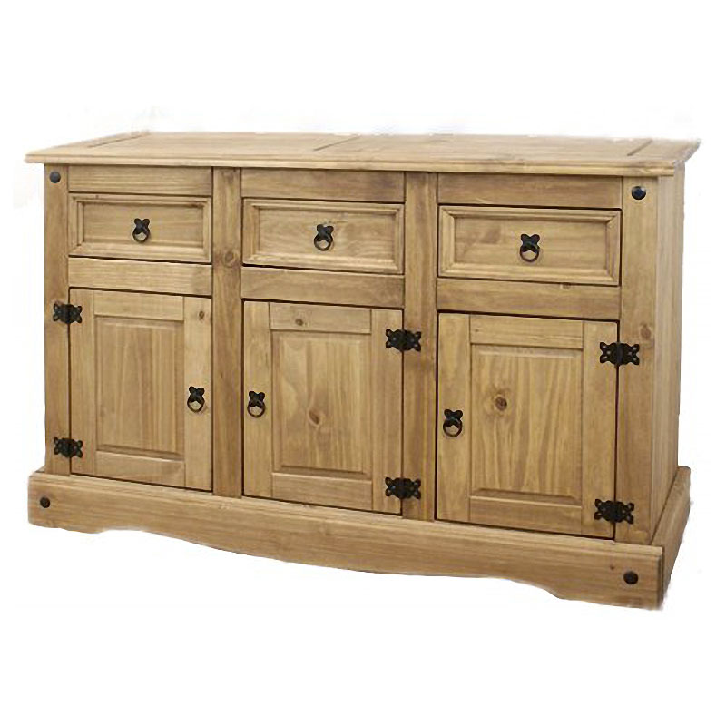 Corona Pine 3-Door 3-Drawer Sideboard - Mexican Style