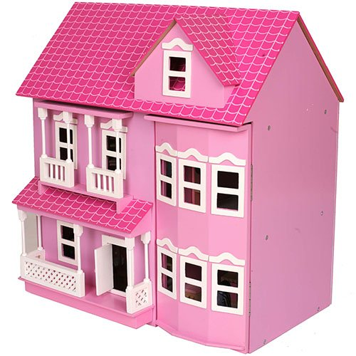 Mamakiddies Wooden Pink Dolls House Review