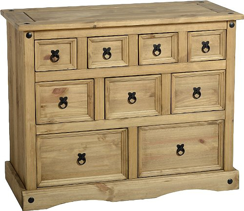 Corona Pine Wood Merchants Chest - Mexican Style