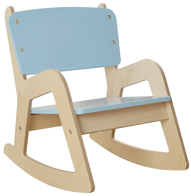 Millhouse Children's Wooden Rocking Chair (Blue)