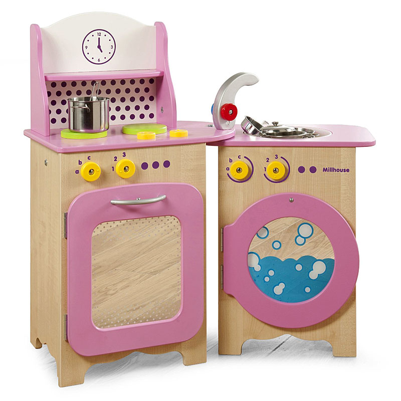Millhouse Wooden Children's Packaway Pretty Kitchen