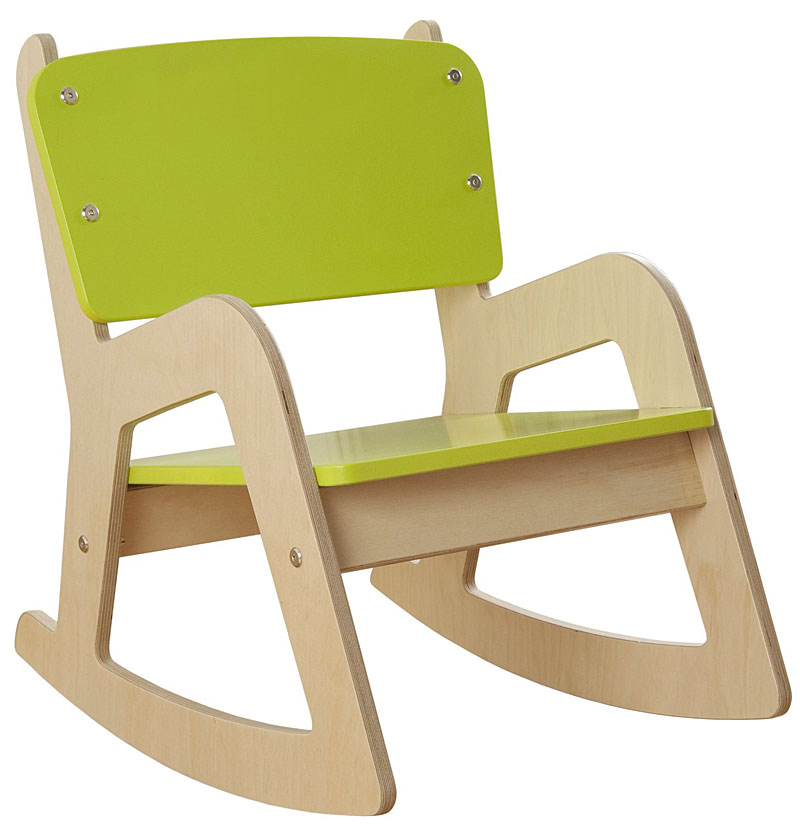 Millhouse Children's Wooden Rocking Chair (Lime Green)