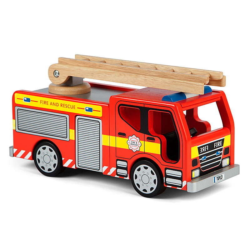 John Crane Tidlo Wooden Fire Engine Set