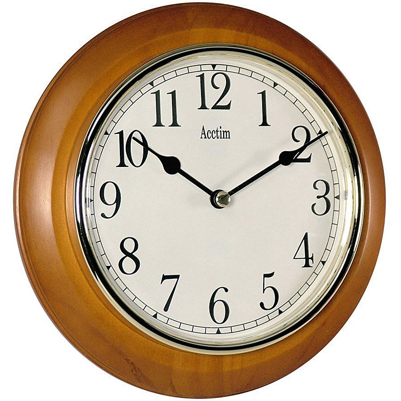 Acctim 24170 Maine Wall Clock - Cherry Finish