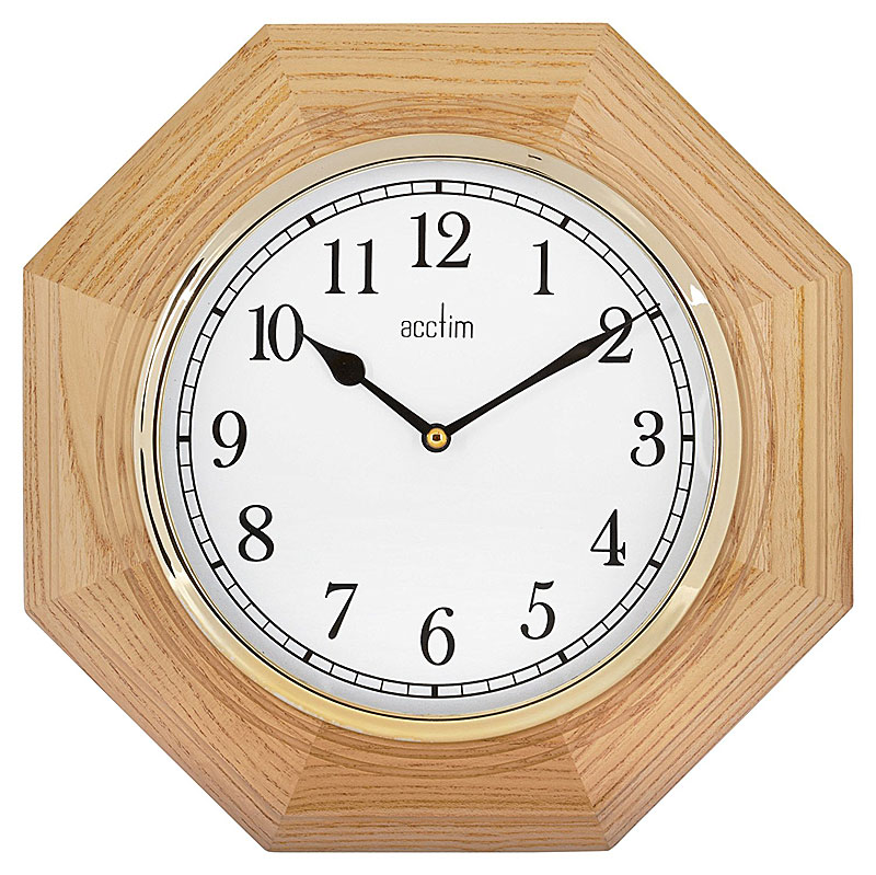 Acctim Richmond Hexagonal Wooden Wall Clock