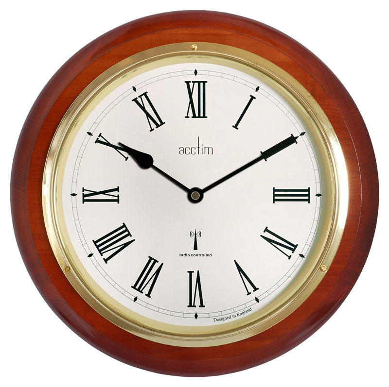 Acctim 74436 Durham Wall Clock - Mahogany