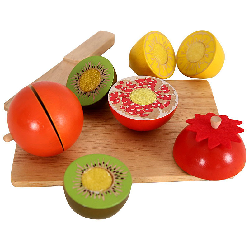 Play Food Toys : Benho sliceable wooden play food toy set pcs