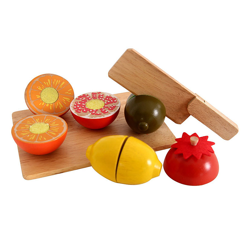 benho sliceable wooden play food toy set 10 pcs