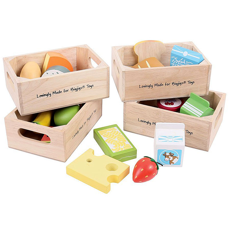 Bigjigs Toys Healthy Eating Dairy Food Set - Wooden Play Food