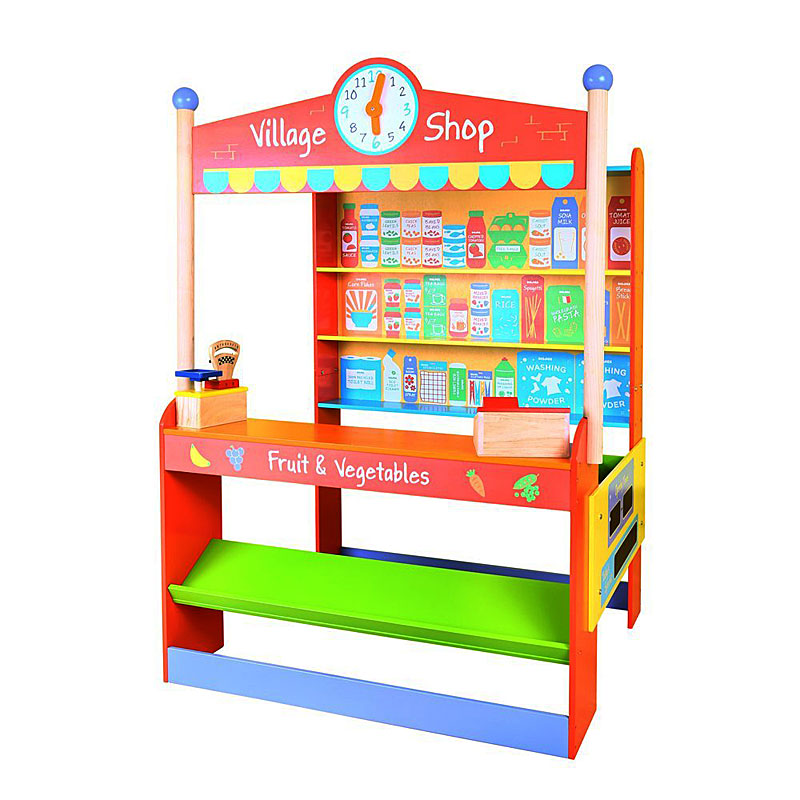 Bigjigs Toys Wooden Play Village Shop - Toy Shop