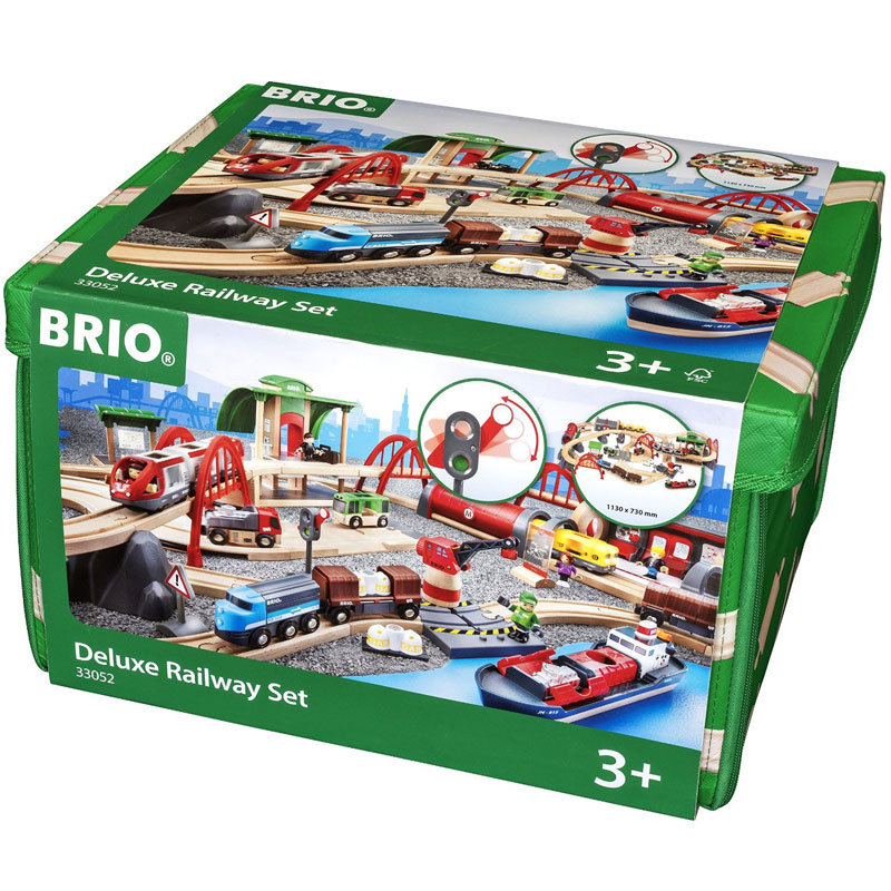 BRIO Deluxe Wooden Railway Set - wooden train set