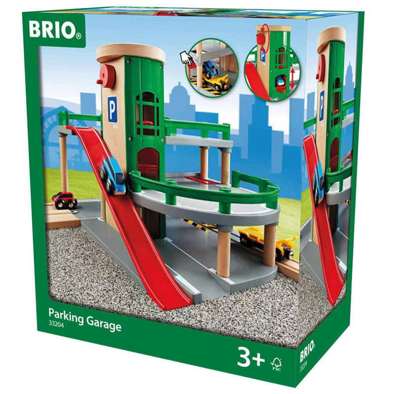 BRIO Parking Garage - Wooden Toy Garage