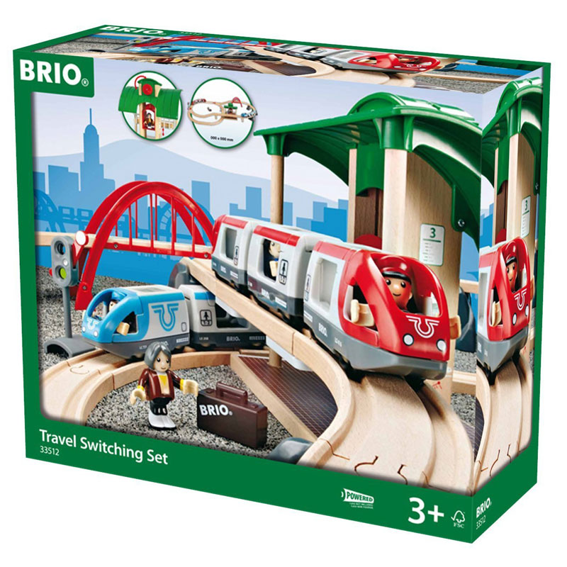 BRIO Travel Switching Set - Wooden Train Set
