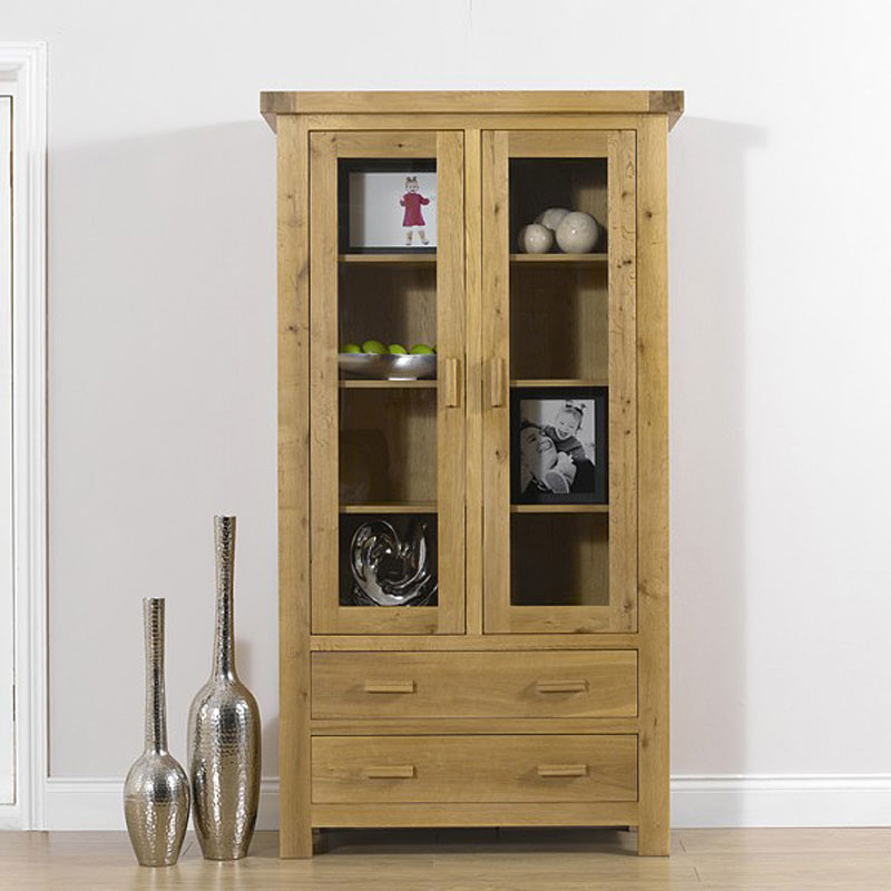 Bruges Solid Oak Display Cabinet