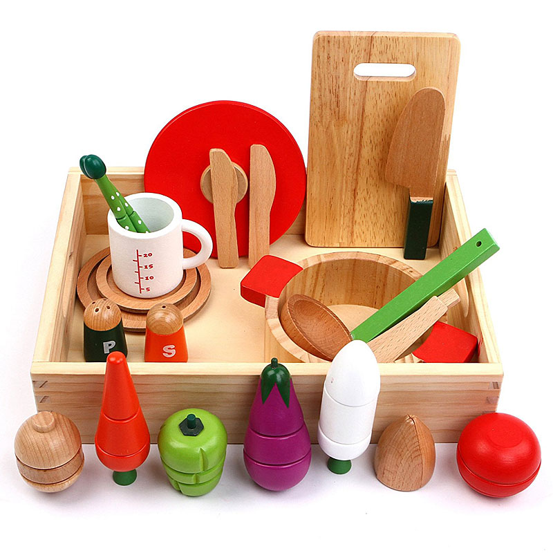 Cutting & Cooking Set with With Assorted Foods & Vegetables