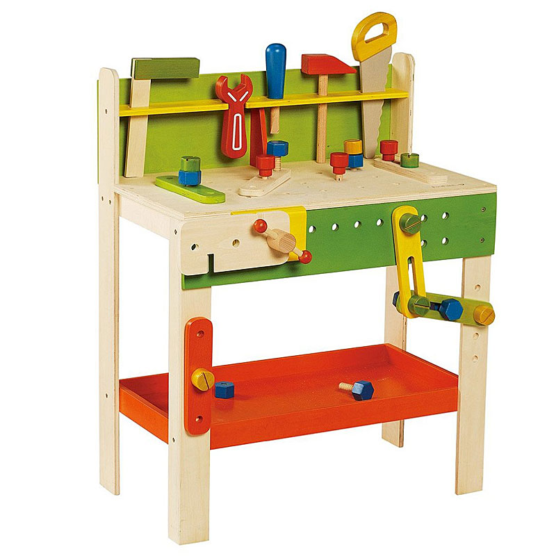 Wooden Toy Workbenches A Wooden Toy Play Workbench Gives