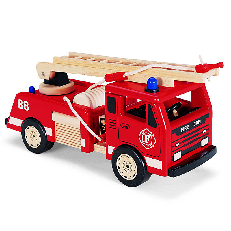 John Crane PinToy Wooden Fire Engine with ladders Review