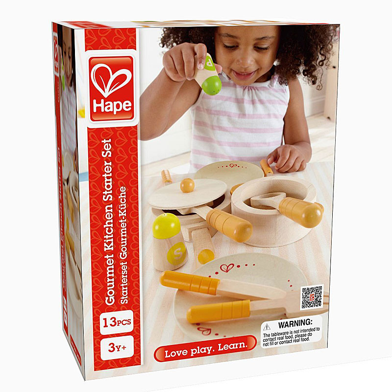 Hape HAP-E3103 Gourmet Wooden Kitchen Starter Tool Set