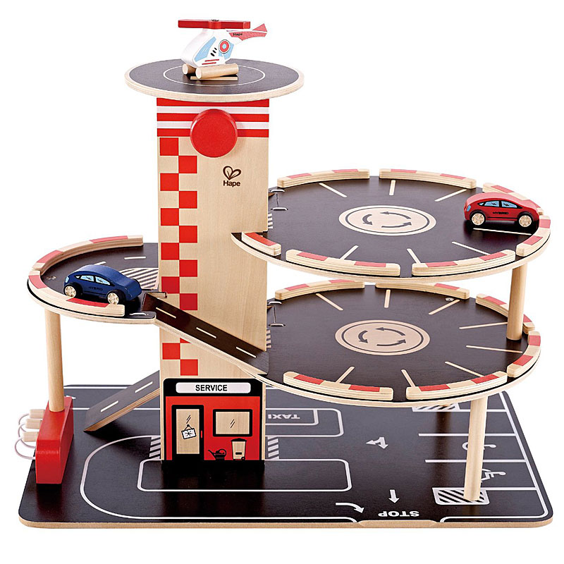 Hape Park & Go Wooden Toy Garage - Model HAP-E3002