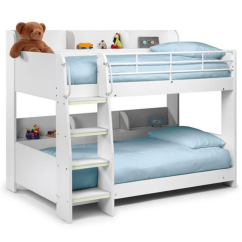 Happy Beds Domino White Finished Childrens Bunk Beds