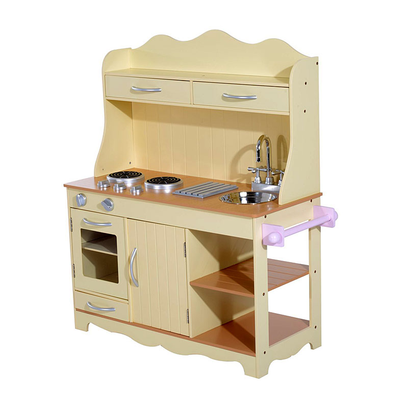 Homcom Large Wooden Play Kitchen Set - Toy Kitchen