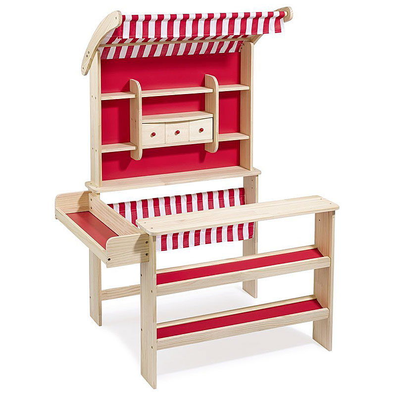 Howa Wooden Toy Shop Play Shop with awning 47463