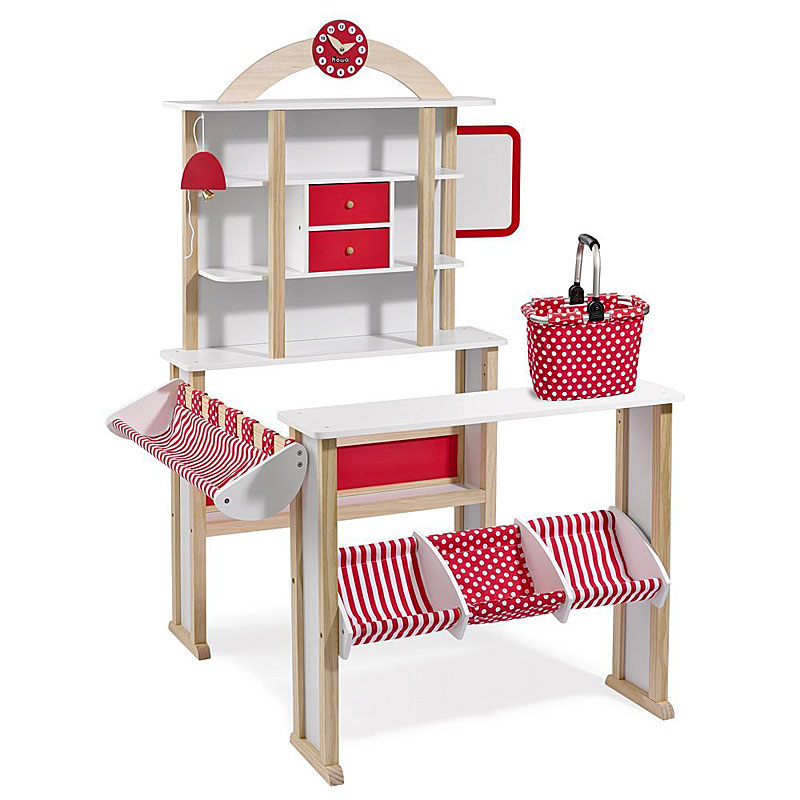 Howa Wooden Toy Shop with Basket - Play Shop 4751