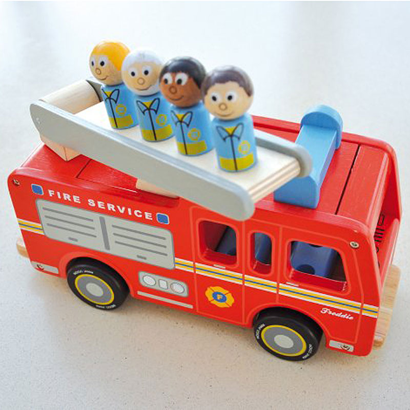 Indigo Jamm Freddie Fire Engine Complete with Four Firefighters