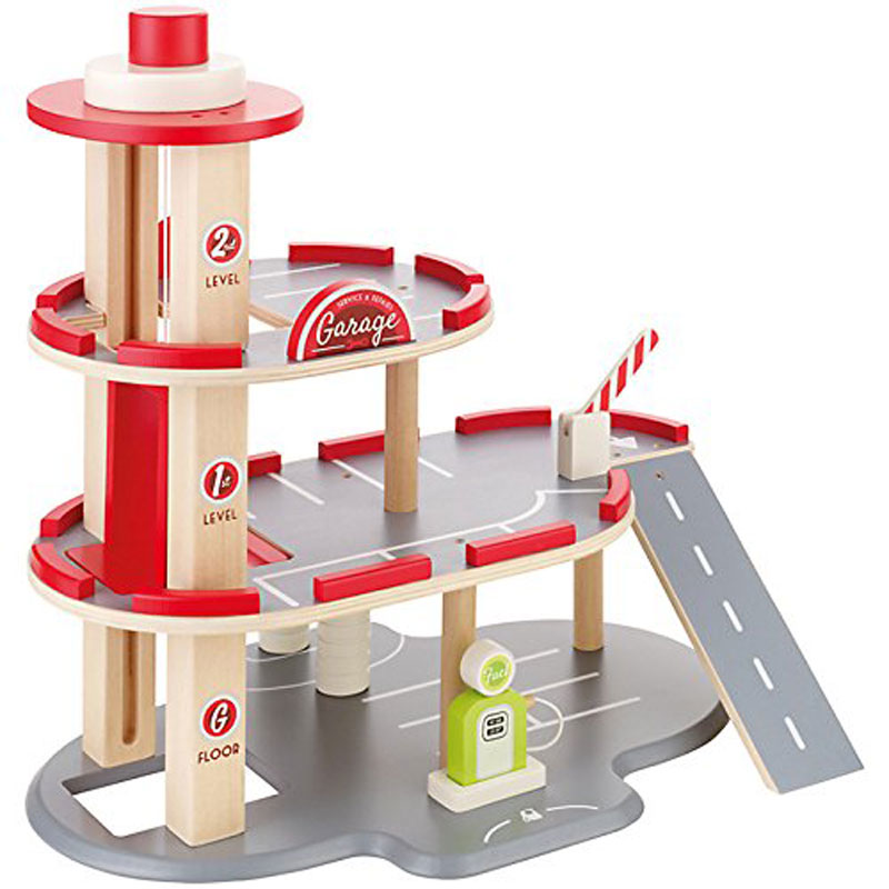 3 Tier Wooden Play Toy Garage