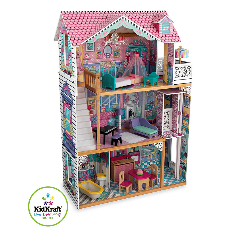 Kidkraft Annabelle Wooden Doll's House Set with furniture