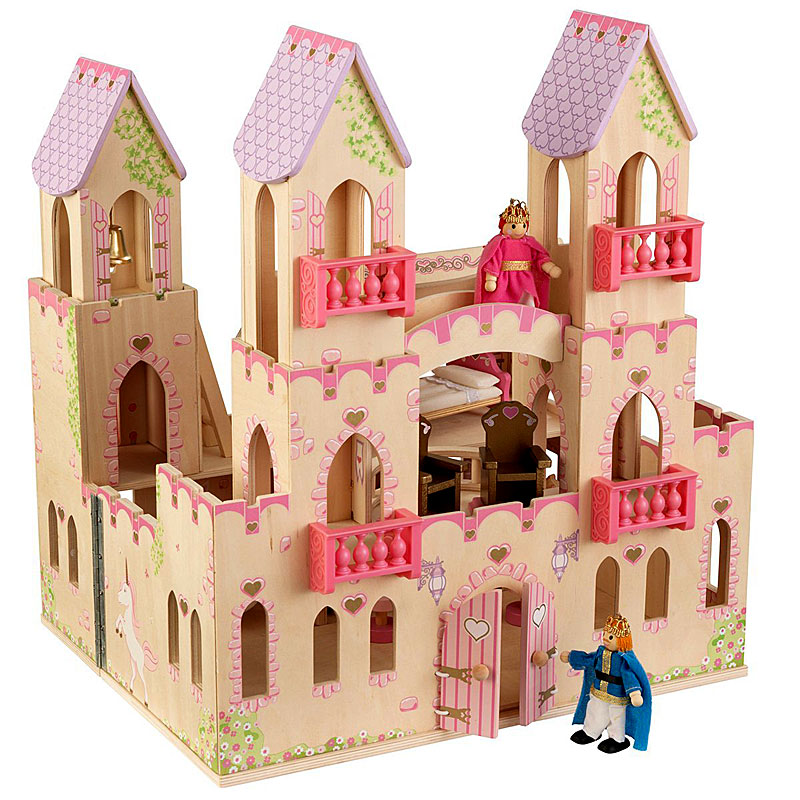 Kidkraft Children's Wooden Toy Princess Castle With Dolls House