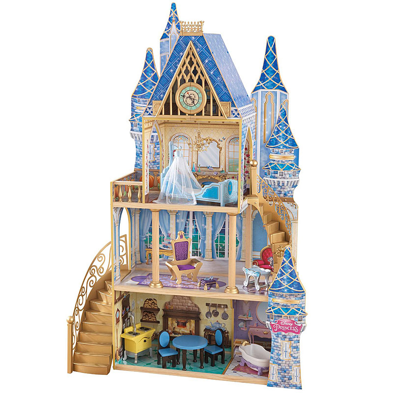 Kidkraft Cinderella Royal Dream Wooden Doll's House + furniture