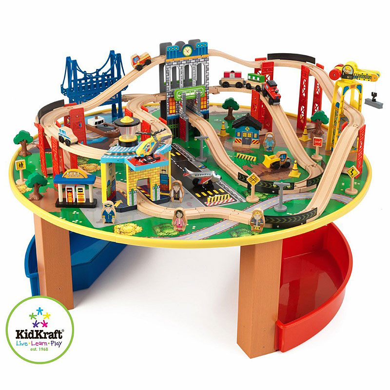 Kidkraft City Explorer's Train Set and Table (100 Pieces)