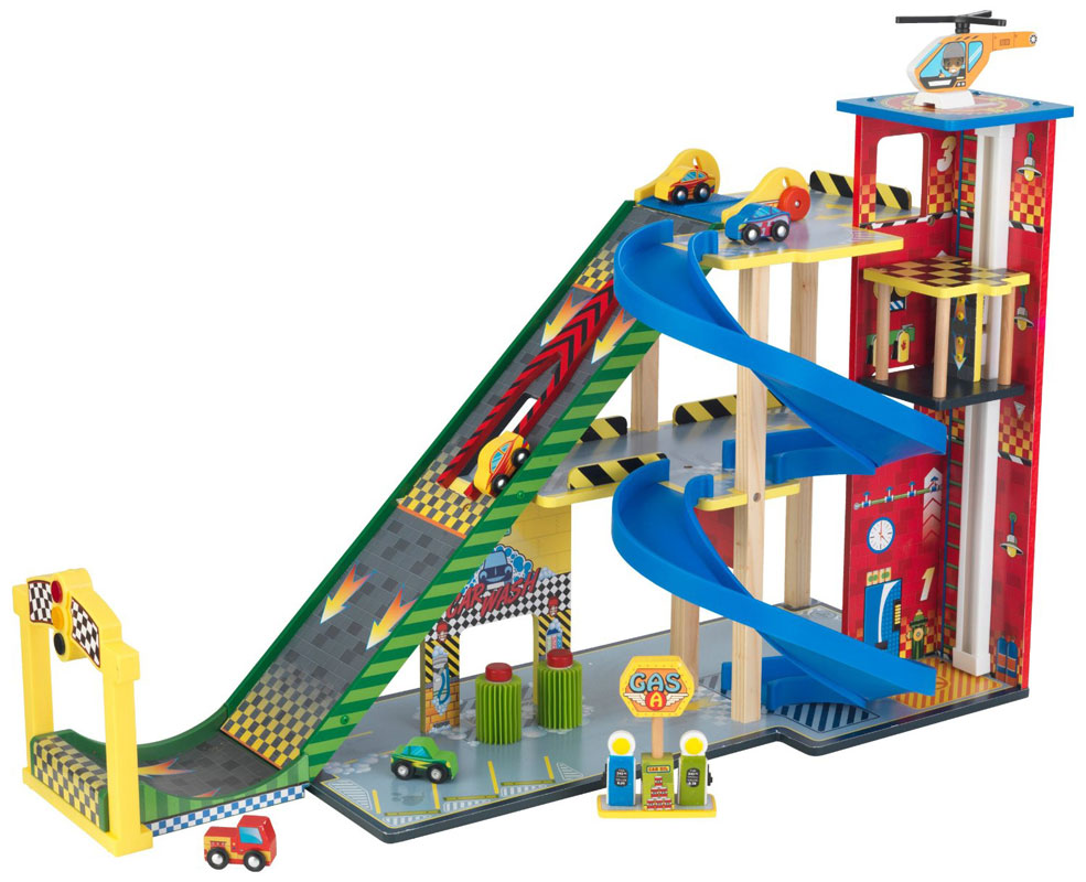 KidKraft Mega Ramp Racing Set - Wooden Garage
