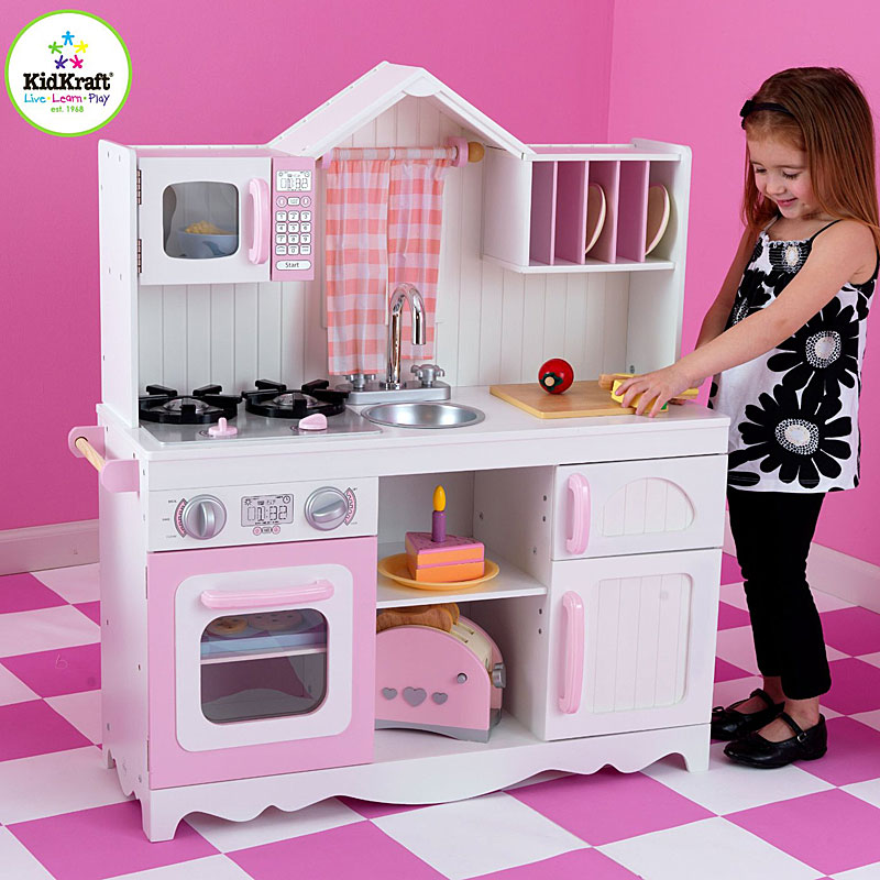 kids craft kitchen set - kidkraft modern country kitchen set