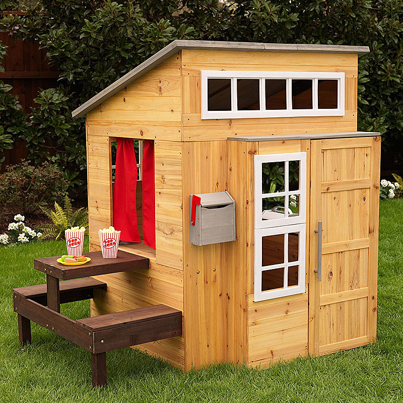 KidKraft - Modern Outdoor Wooden Playhouse Reviews and Video