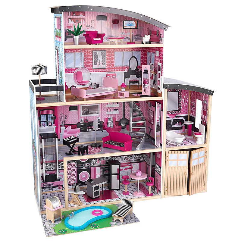 KidKraft Sparkle Wooden Mansion Dolls House