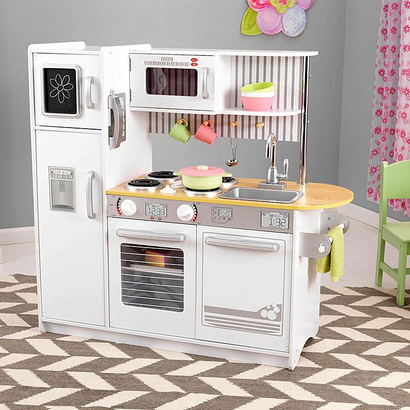 Kidkraft Uptown White Play Kitchen Set Reviews Video Kidkraft