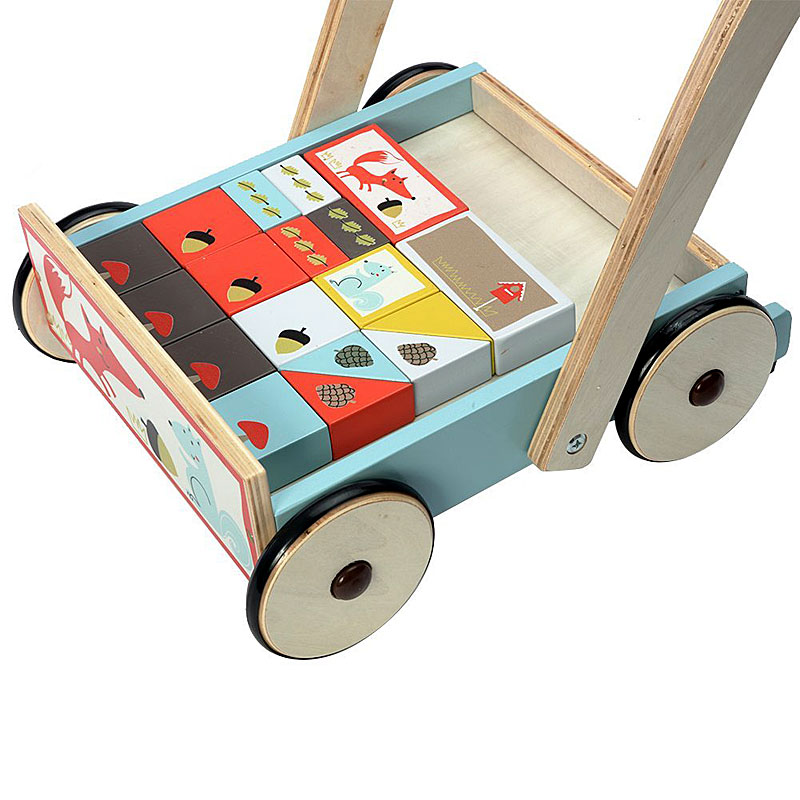 Labebe - Baby Wooden Walker - Fox (with Blocks)