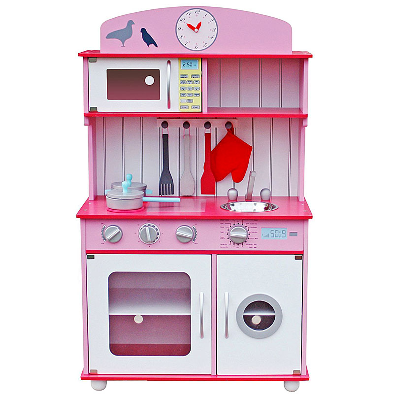 Lakeez Deluxe Large Wooden Play Kitchen Toy - Pink
