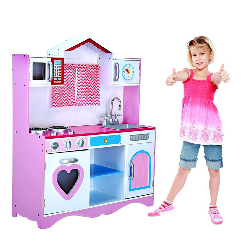 Large Girls Boys Kids Wooden Play Kitchen