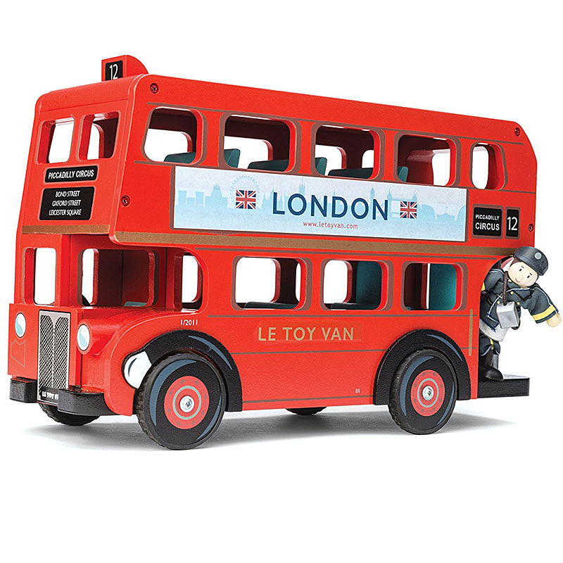 Le Toy Van Wooden London Bus with Budkins Driver