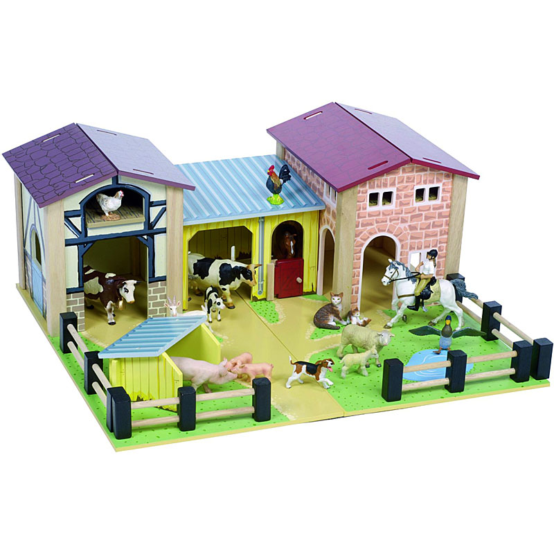 Le Toy Van Wooden Play Farmyard - Toy Farm