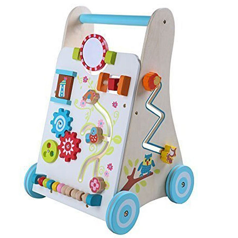 Leomark Baby First Steps Wooden Activity Baby Walker