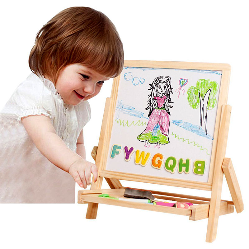 Lewo 3 in1 Wooden Magnetic Art Easel Double Sided