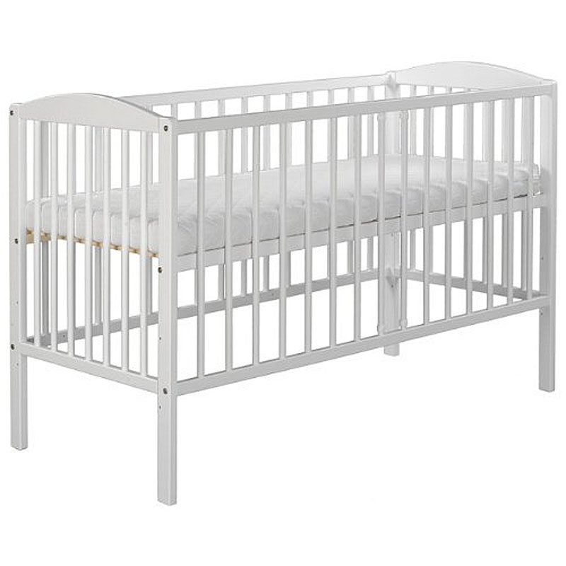 Luxury Cot Wooden Baby Bed 120 x 60cm. With Mattrass
