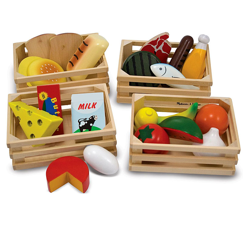 Melissa & Doug Wooden Play Food Set for Play Shops