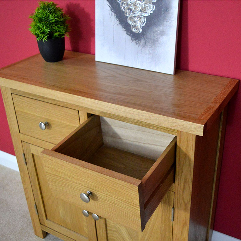 Oaksby Small Sideboard / Oak Cupboard / Storage Dresser - Solid